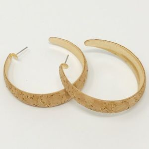 Jewelry - Cork Hoops, Gold